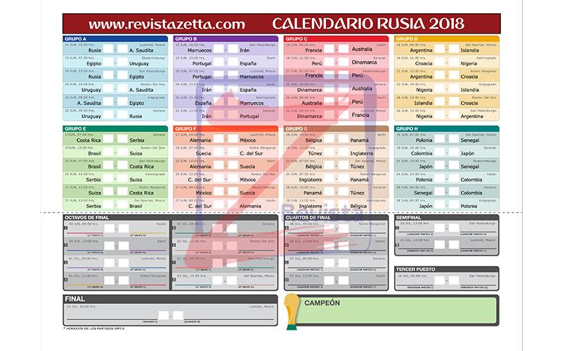 Calendario Mundial Futbol.Descarga Tu Calendario Mundial De Futbol Fifa Rusia 2018